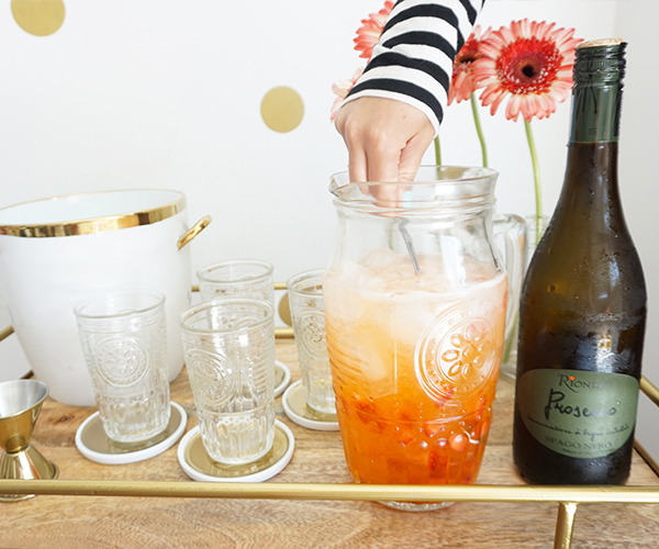 STRAWBERRY ORANGE SPRITZER RECIPE